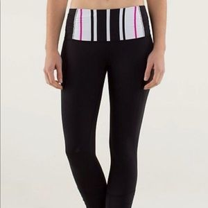Lululemon Runday pant Black with striped waist